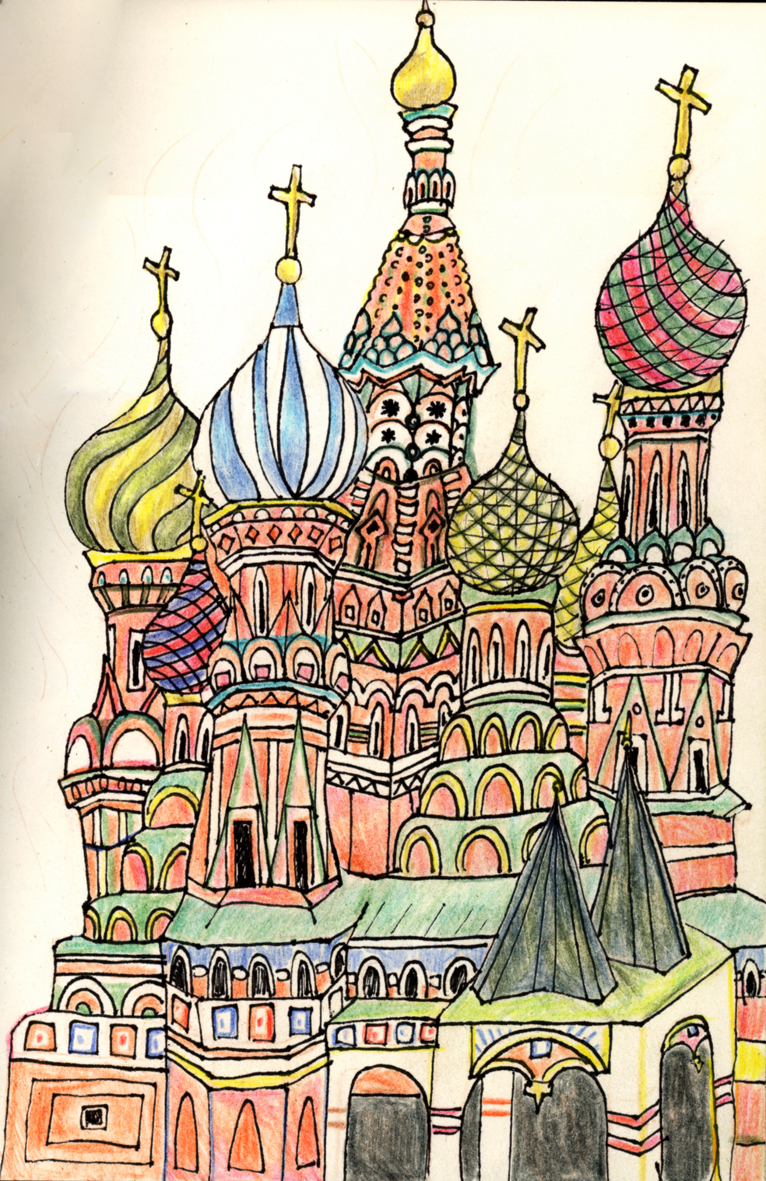 saint basils cathedral coloring pages - photo#34