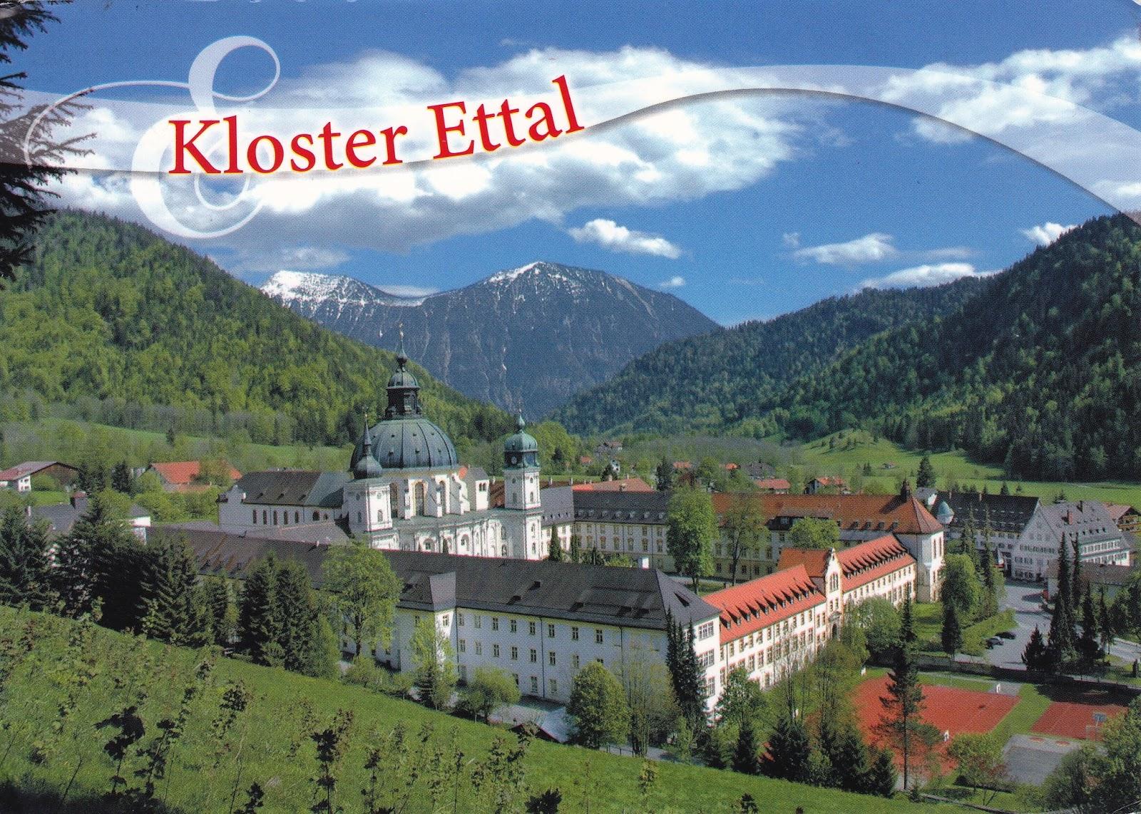 jazz stamps postcard 277 kloster ettal germany. Black Bedroom Furniture Sets. Home Design Ideas