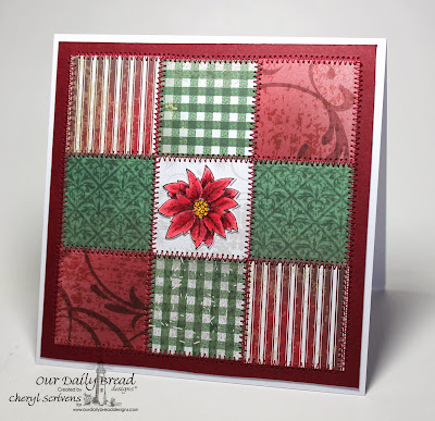 Our Daily Bread Designs, Poinsettia Wreath, Poinsettia Wreath Die Set, ODBD Christmas Paper Collection 2013