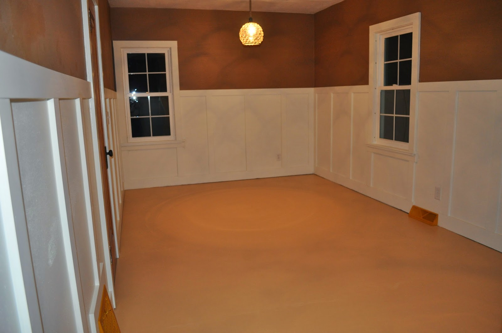 carri us home downstairs bedroom wainscoting
