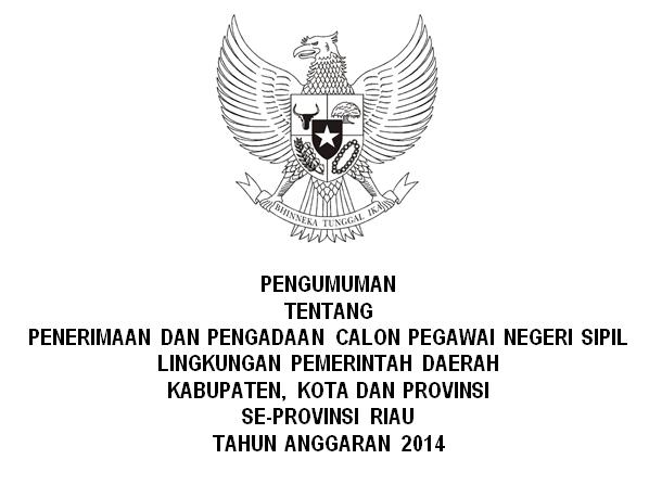 List Penerimaan CPNS Se Provinsi Riau