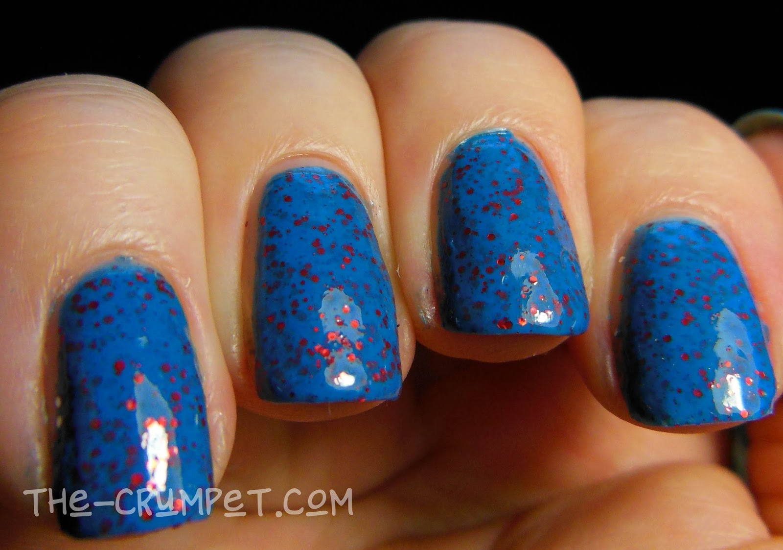 Blue Glitter Acrylic Nails - 2018 images & pictures - blue acrylic ...