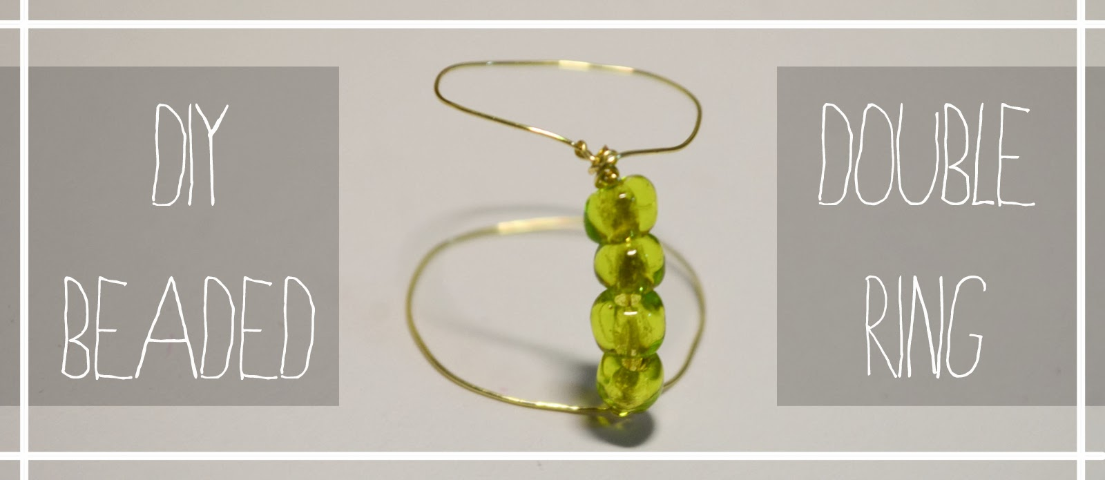 green beads gold wire dainty simple easy tutorial quick