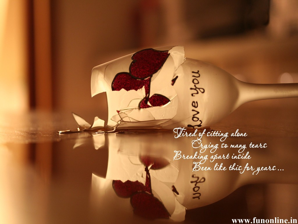 Love Wallpaper Very Sad : Wallpaper Quotes On Sad Love