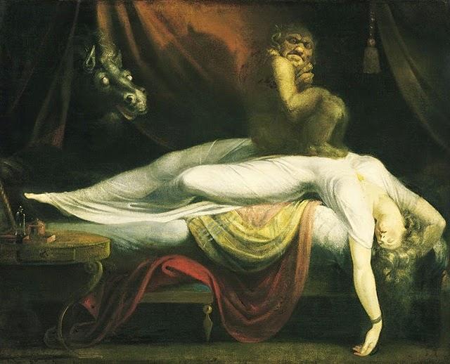 O Pesadelo, Henry Fuseli, pintura macabra, mortalha