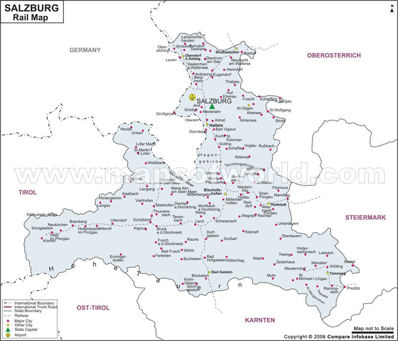 Political Geography Of Salzburg Last Years Salzburg - Germany map salzburg