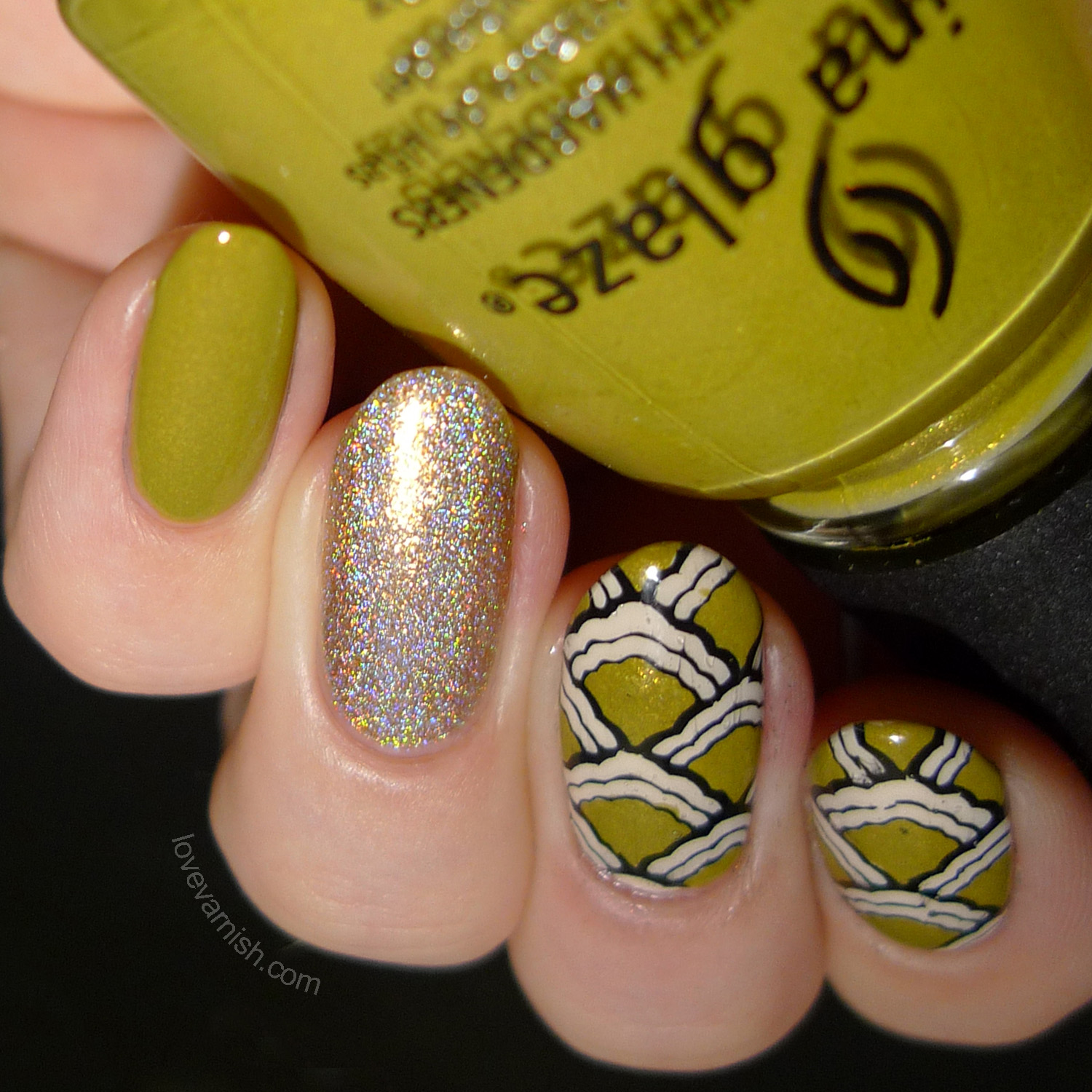 China Glaze Trendsetter stamping decals nail art