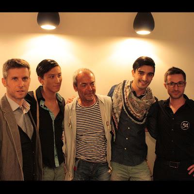 Richard de la Chemise Française, Jean-Philippe, Denis de la boutique le Détour à Montpellier, Maxime et Eddy, coiffeur du Studio 54, salon de coiffure à Montpellier.