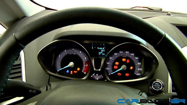 Novo Ford EcoSport 2013 - painel de instrumentos