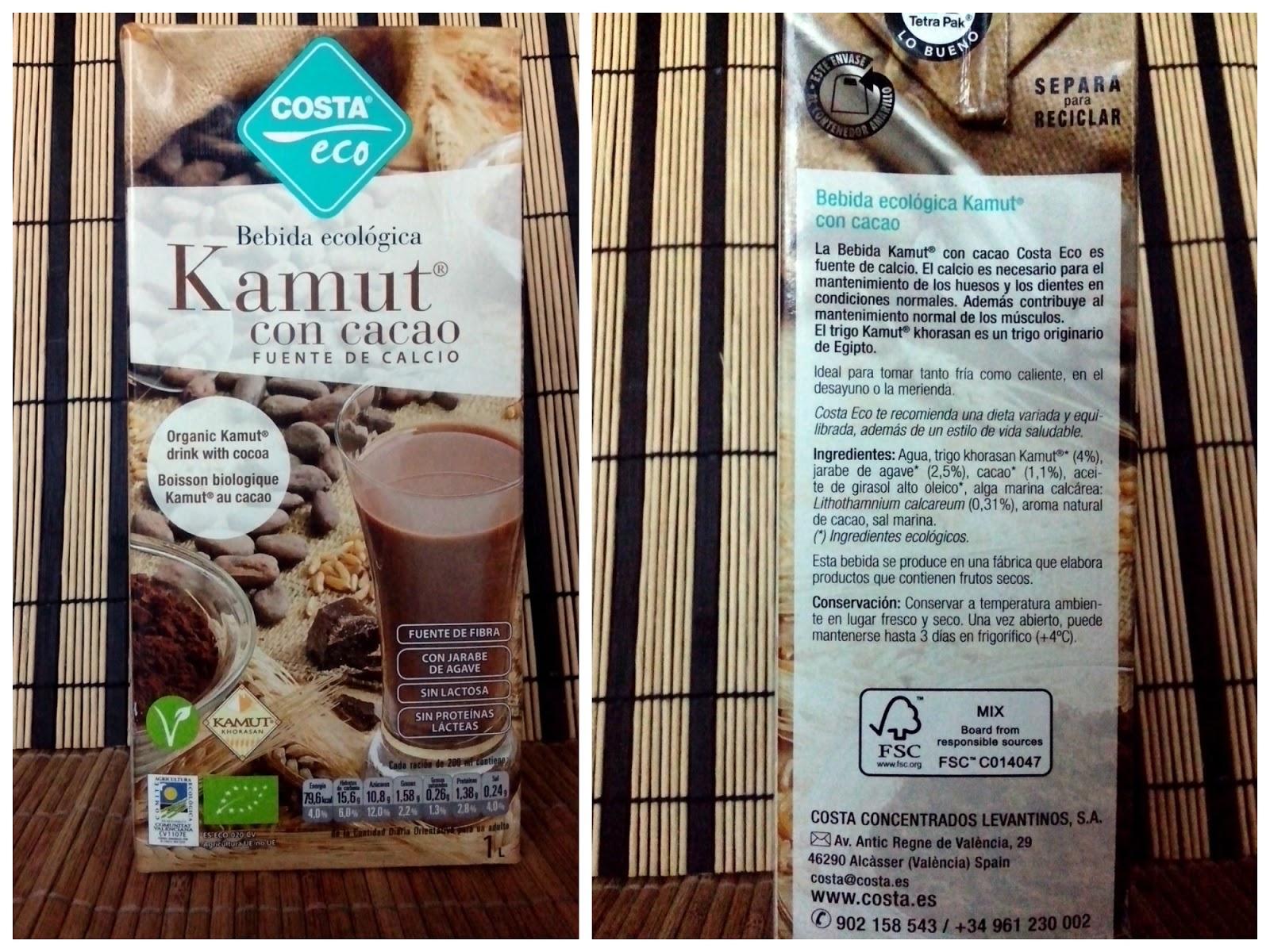 bebida vegetal kamut cacao