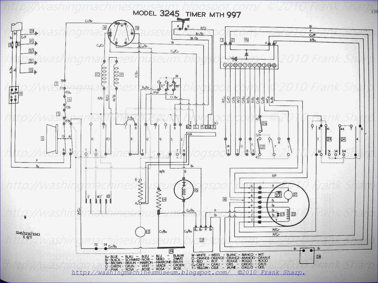 Washer Rama Museum Hoover Mod 3236 3243 3245 Schematic Diagram Indesit Washing Machine Motor Wiring