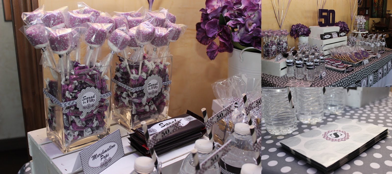 50th Birthday Decorations Purple Image Inspiration of Cake and