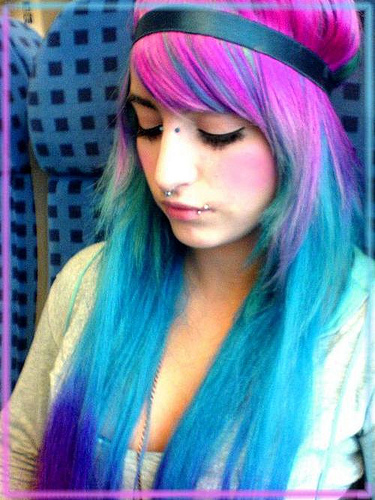 mi mundo fucsia cabellos de colores