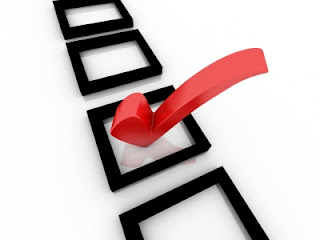 Checklist with red checkmark