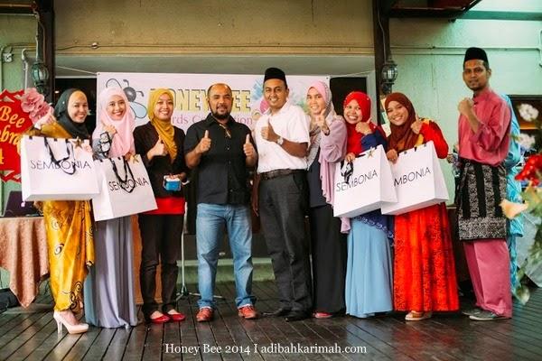 Pemenang Lucky Draw menang Beg Sembonia dlm Honey Bee Award