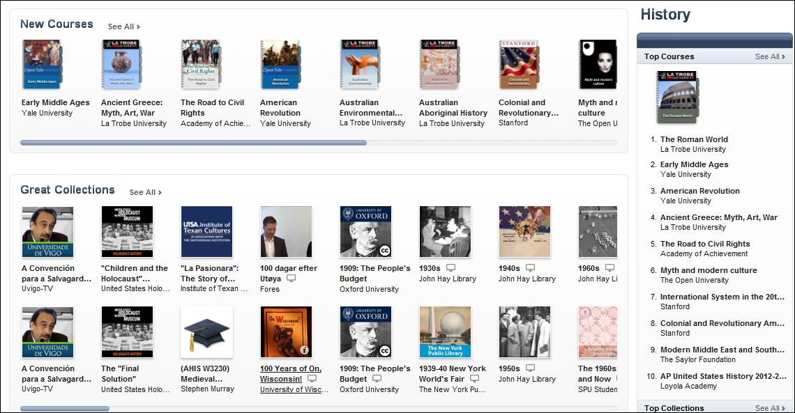 World History Teachers Blog: ITunes U and History courses