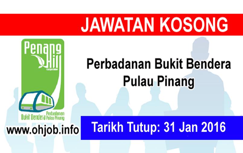 Jawatan Kerja Kosong Perbadanan Bukit Bendera Pulau Pinang logo www.ohjob.info januari 2016