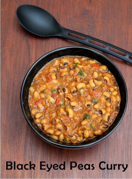 Jaya's recipes: Black Eyed Pea Masala/Lobia Curry
