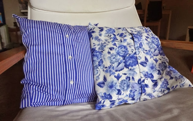 Shirts made into pillow cases