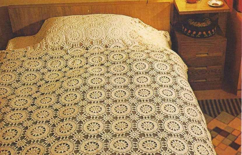 "Sobrecama ""Champagne"" a Crochet"