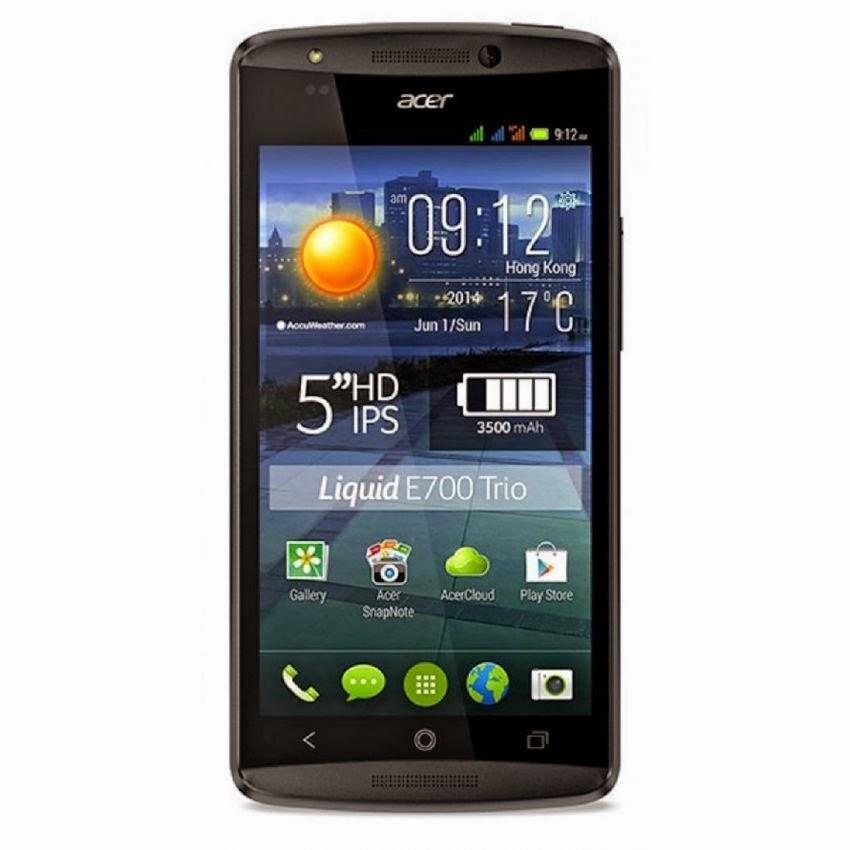 Spesifikasi Dan Harga Acer E700 Liquid E5 - Triple SIM