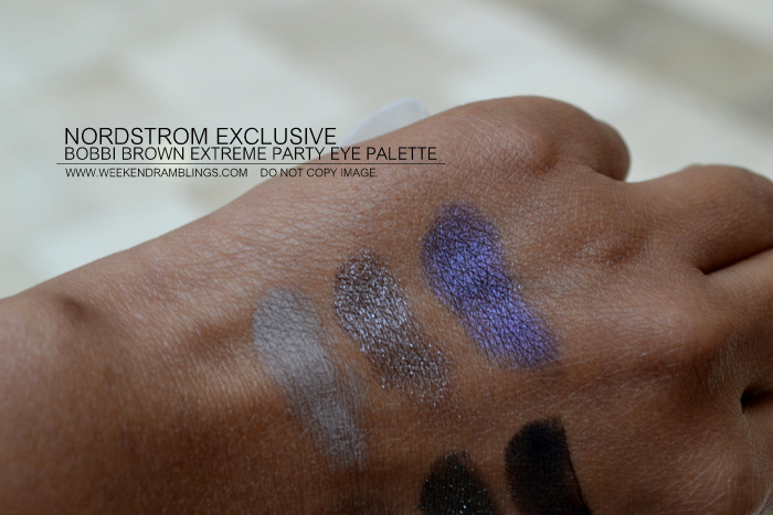Bobbi Brown Extreme Party Eyeshadow Palette Nordstrom Exclusive Indian Darker Skin Beauty Blog Swatches Holiday 2012 Makeup Gifts Collection