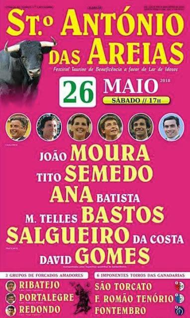 STº ANTÓNIO DAS AREIAS (PORTUGAL) 26 MAIO 2018. CORRIDA  PORTUGUESA.
