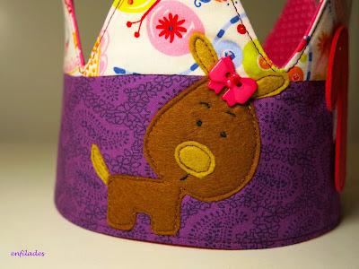 Corones d'aniversari per nens i nenes fetes a mà Enfilades