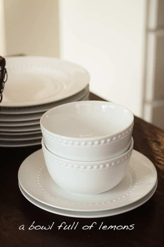 Pb Emma Dinnerware & Pottery Barn Like - Dollar Store Plates