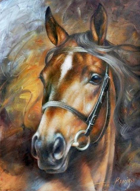 caballos-cuadros-oleo