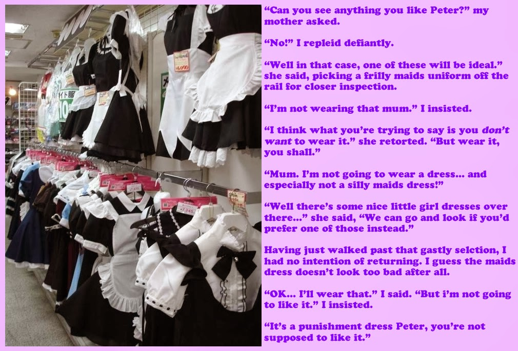 not a forced fem caption but should any of the male chambermaids try ...