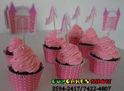 Mini cupcakes tradicionais das princesas