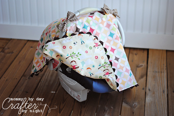 Tied with a Bow Carseat Canopy & Mommy by day Crafter by night: Tied with a Bow Carseat Canopy