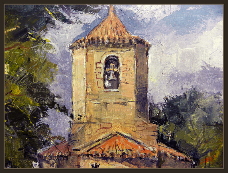 SANT JOAN DE LES ABADESSES-GIRONA-PINTURA-ARTE ROMANICO-IGLESIA-SANT POL-CUADROS-ERNEST DESCALS-