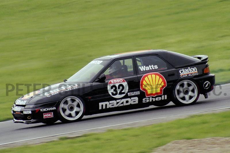 Mazda Astina, Familia, 323F BG, wyścigi, sport, tor wyścigowy, racing, BTCC, japoński samochód, motoryzacja
