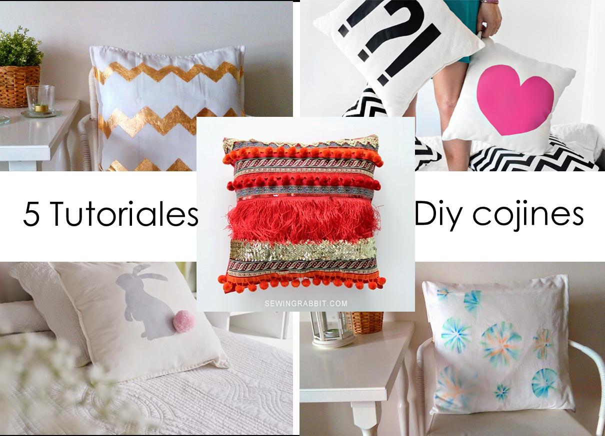 5 tutoriales para crear tu propio coj n decoraci n for Tutoriales de decoracion