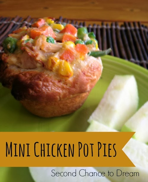 mini chicken pot pies via second chance to dream