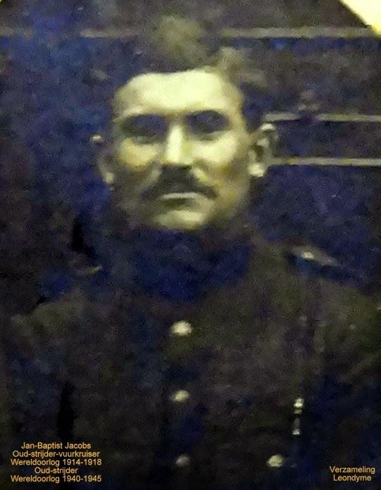 Jan-Baptist Jacobs 1890-1994 Oud-strijder/vuurkruiser uit Wereldoorlog 1914-1918 Oud-strijder uit Wereldoorlog 1940-1945 Legerarchief Evere. Verzameling Leondyme