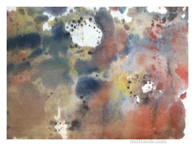 Monoprinting on Fabric - CAPI Textiles Tutorial @milliande.com , Printing on Fabric for Watercolor Print Effects