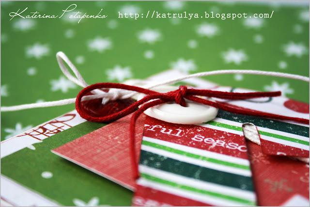 Рождественскую открытку своими руками