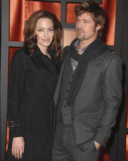Angelina Jolie in Dolce & Gabbana and Brad Pitt at the Critics' Choice Awards