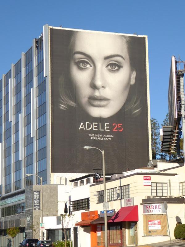 Giant Adele 25 album billboard