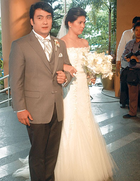Dani bananinha bong revilla lani mercado wedding for Silver wedding dresses 25th anniversary