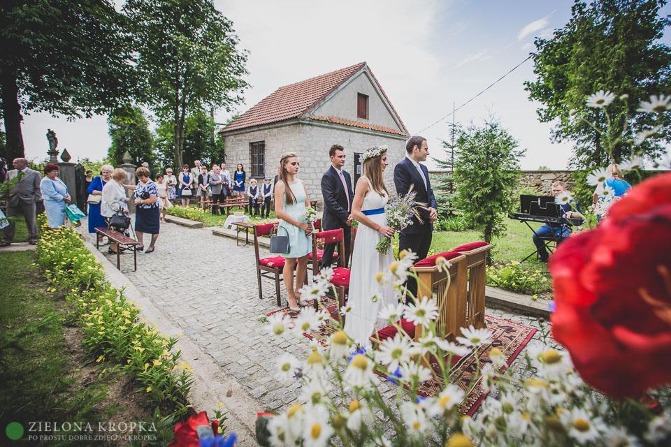 ślub w plenerze, zdjęcia ślubne Andrychów Wadowice
