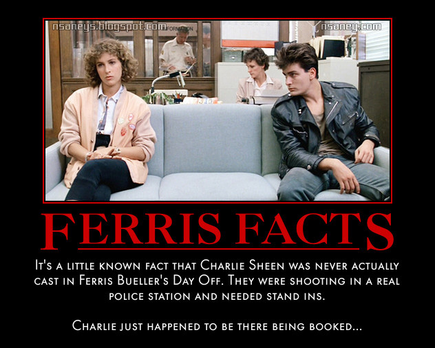 nsaney 39 z posters ii charlie sheen ferris bueller 39 s day off. Black Bedroom Furniture Sets. Home Design Ideas