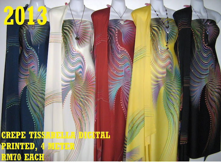 CTD 2013: CREPE TISSABELLA DIGITAL PRINTED, EXCLUSIVE DESIGN, 4 METER