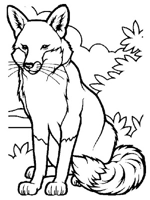 Fox Animal Coloring Pages