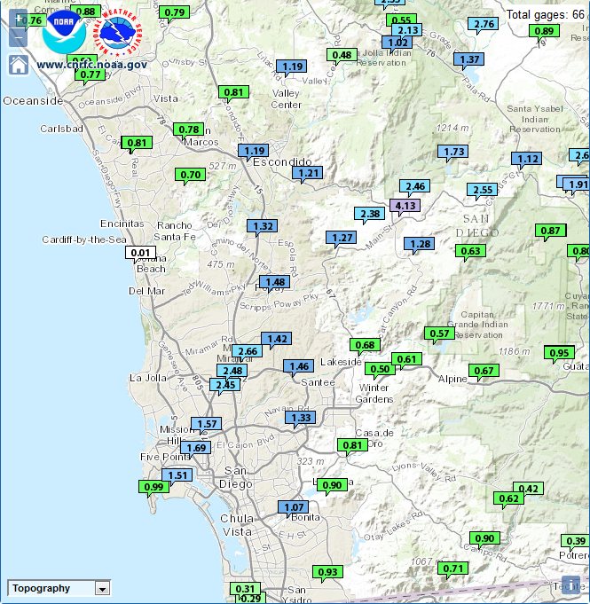 RAIN TOTALS 7/18 TO 7/19 - CLICK TO ENLARGE