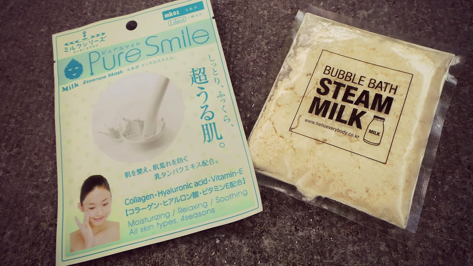 pure smile milk mask