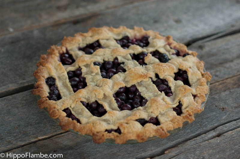 Hippo Flambé: Blueberry Pie